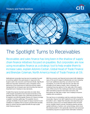 The Spotlight Turns to Receivables