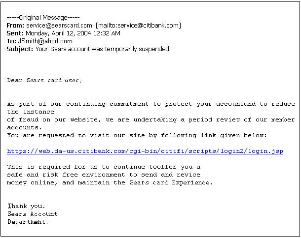continuaciu00f3n veru00e1s un mensaje de correo electru00f3nico fraudulento ...